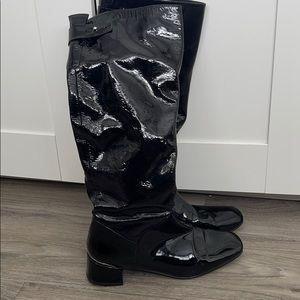 Stuart Weitzman patent leather knee high boots